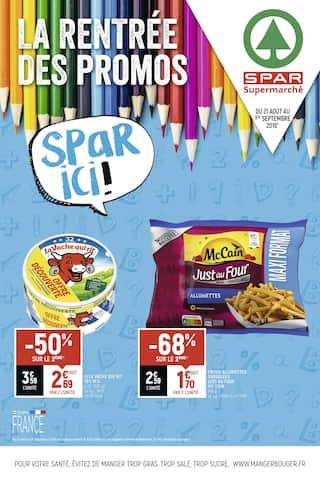 Catalogue Spar en cours, La rentrée des promos Spar ici !, Page 1