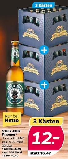 Bier im aktuellen NETTO mit dem Scottie Prospekt für 12€