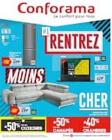Catalogue Conforama en cours, #1 Rentrez moins cher, Page 1
