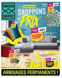 Catalogue Maison Dépôt en cours, Shoppons les prix, Page 1