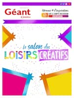 Catalogue Géant Casino en cours, Le salon des loisirs créatifs, Page 1