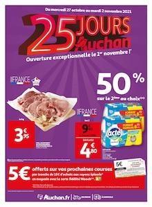 """Auchan Catalogue """"25 jours Auchan"""", 56 pages, Brunoy,  26/10/2021 - 02/11/2021"""