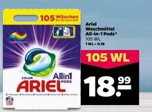 Waschmittel von Ariel im aktuellen NETTO mit dem Scottie Prospekt für 18.99€