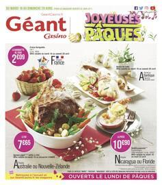 Catalogue Géant Casino en cours, Joyeuses Pâques, Page 1