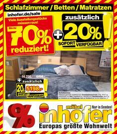 Aktueller Möbel Inhofer Prospekt, Schlafzimmer / Betten / Matratzen, Seite 1