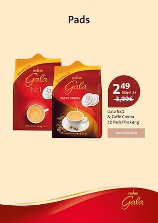 Getraenke im Gala Eduscho Prospekt Nur für kurze Zeit: Alle Gala von Eduscho Kaffeesorten jetzt zum Aktionspreis! auf S. 3