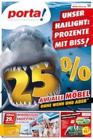Aktueller porta Möbel Prospekt, Unser Hailight: Prozente mit Biss!, Seite 1