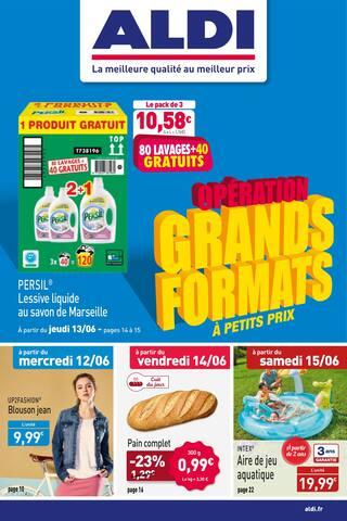 Catalogue Aldi en cours, Opération grands formats à petit prix, Page 1