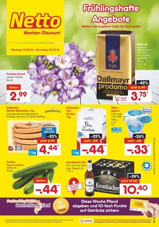 Aktueller Netto Marken-Discount Prospekt, Frühlingshafte Angebote, Seite 1