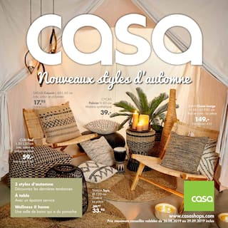 Catalogue Casa en cours, Nouveaux styles d'automne, Page 1