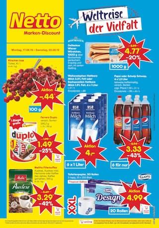 Aktueller Netto Marken-Discount Prospekt, Weltreise der Vielfalt, Seite 1