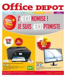 Catalogue Office DEPOT en cours, PROMOS jusqu'au 02/04 ! soyez €coptimiste !  , Page 1