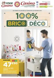 Catalogue Casino Supermarchés en cours, 100% Brico Déco, Page 1