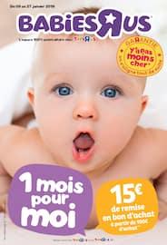Catalogue Toys'r'us en cours, 1 mois pour moi, Page 1
