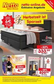 Aktueller Netto Marken-Discount Prospekt, Herbstzeit ist Sparzeit!, Seite 1