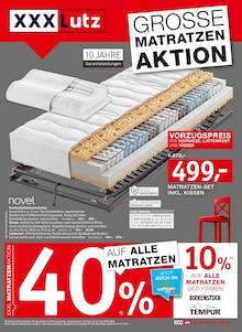 XXXLutz Möbelhäuser, GROSSE MATRATZEN AKTION für Friedrichsdorf
