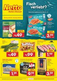 Aktueller Netto Marken-Discount Prospekt, Fisch verliebt? Dann geh doch zu Netto!, Seite 1