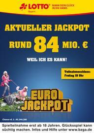 Aktueller LOTTO Bayern Prospekt, Aktueller Jackpot rund 84 Mio. €, Seite 1