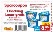 Waschmittel von Lenor im aktuellen Netto Marken-Discount Prospekt für 8.98€