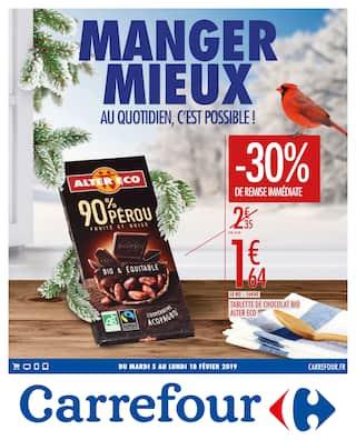 Catalogue Carrefour en cours, Manger mieux au quotidien, c'est possible !, Page 1