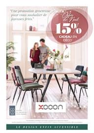 Catalogue Xooon en cours, Offre de Noël, 15% cadeau en déco, Page 1