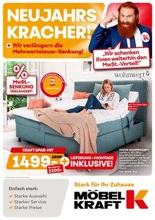 Der aktuelle Möbel Kraft Prospekt NEUJAHRS-KRACHER!