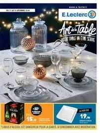 Catalogue E.Leclerc en cours, Art de la table votre table va être servie, Page 1
