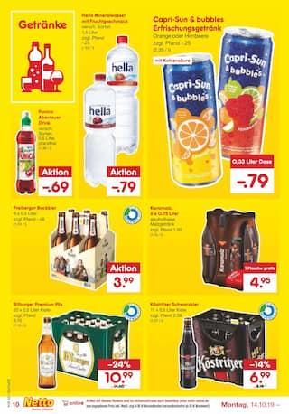 Getraenke im Netto Marken-Discount Prospekt Kaufe unverpackt! auf S. 11