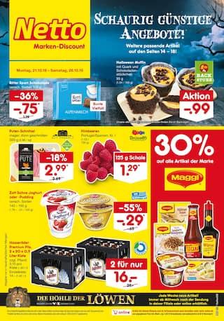 Aktueller Netto Marken-Discount Prospekt, Schaurig günstige Angebote!, Seite 1