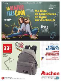 Catalogue Auchan en cours, La rentrée très cool, Page 1