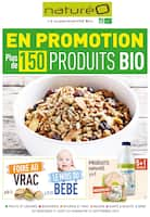 Catalogue NaturéO en cours, En promotion plus de 150 produits BIO, Page 1