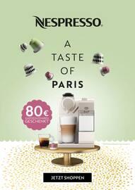 Aktueller Nespresso Boutique Prospekt, A TASTE OF PARIS, Seite 1