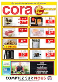 Catalogue Cora en cours, Les immanquables du week end, Page 1