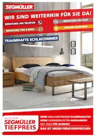 Aktueller Segmüller Prospekt, Traumhafte Schlafzimmer, Seite 1