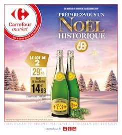 Catalogue Carrefour Market en cours, Préparez-vous un Noël historique, Page 1