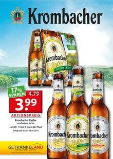 Getränkeland, KROMBACHER RADLER für Ahrensfelde