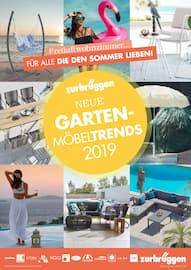 Aktueller Zurbrüggen Prospekt, Neue Gartenmöbeltrends 2019!, Seite 1
