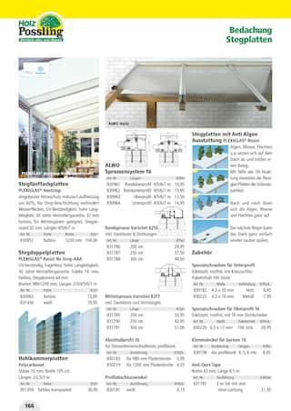 Aktueller Holz Possling Prospekt, Holz- & Baukatalog, Seite 166