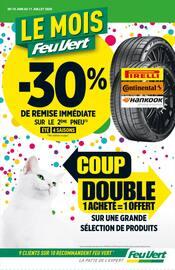 Catalogue Feu Vert en cours, Coup double : 1 acheté = 1 offert, Page 1