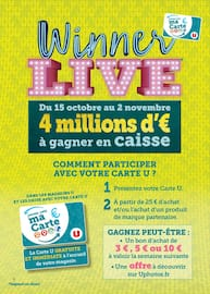 Catalogue Super U en cours, Winner live, Page 2