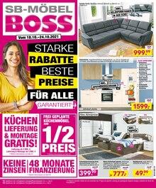 SB Möbel Boss Prospekt für Oppin b Halle, Saale: Aktuelle Angebote, 12 Seiten, 17.10.2021 - 24.10.2021