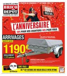 """Brico Dépôt Catalogue """"L'anniversaire, 100% pour vos chantiers, 100% pour vous"""", 20 pages, Chilly-Mazarin,  30/09/2021 - 21/10/2021"""