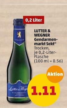 Sekt von LUTTER & WEGNER im aktuellen Penny-Markt Prospekt für 1.11€