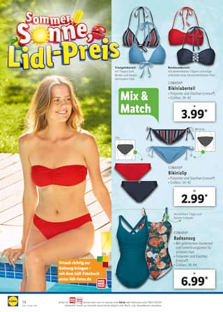 Aktueller Lidl Prospekt, Sommer, Sonne, Lidl-Preis, Seite 14