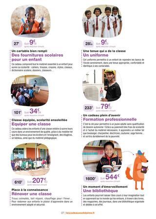 Catalogue Vision Du Monde en cours, Des cadeaux originaux qui changent la vie !, Page 7