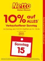 Aktueller Netto Marken-Discount Prospekt, Verkaufsoffener Sonntag - 10% auf alles, Seite 1