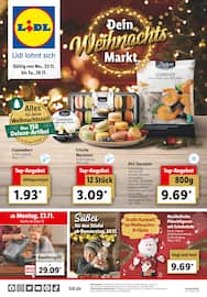 Aktueller Lidl Prospekt, Dein Weihnachtsmarkt, Seite 1