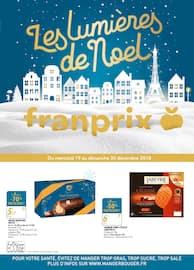 Catalogue Franprix en cours, Les lumières de Noël, Page 1