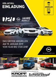 Aktueller Opel Prospekt, Das große Angrillen, Seite 1
