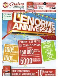 Catalogue Casino Supermarchés en cours, L'énorme anniversaire, Page 1